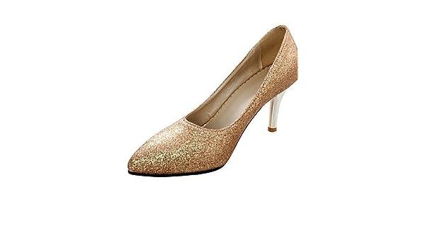 12712e75731daf ShangYi Chaussures Femme-Mariage / Bureau & Travail / Soirée & Evénement- Argent / Or-Talon Aiguille-Talons-Talons-Similicuir , golden-us8.5 / eu39 /  uk6.5 ...