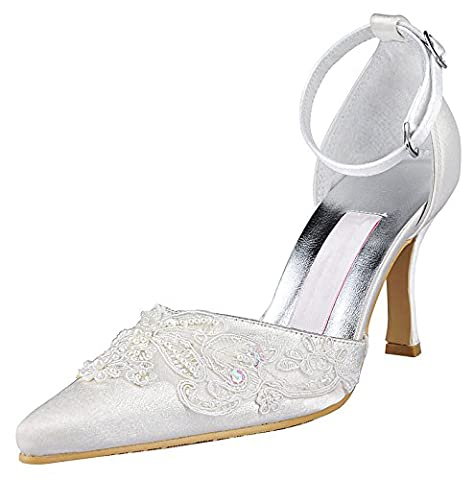 Kevin Fashion , Chaussures de mariage tendance femme - beige - Style2-Ivory, 41