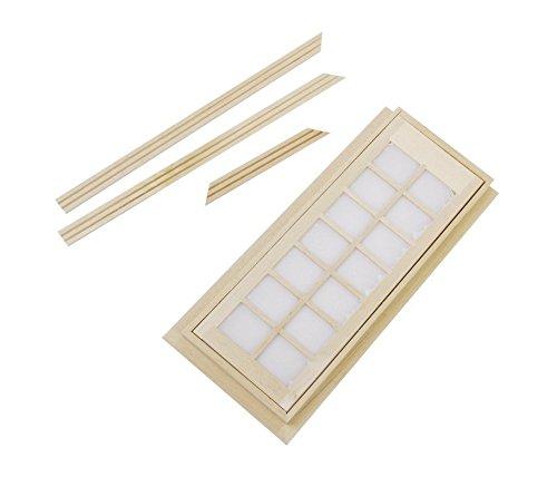 YEAH67886creative 1/12casa delle bambole mini non verniciata in legno porta 14quadrati