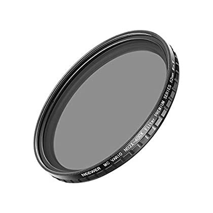 Neewer 52MM ND2-400 ND Filtro Fader Variable ND2 a ND400 Filtro Densidad Neutra para Nikon Canon Sony Panasonic Olympus Cámaras DSLR con Rosca 52mm como Nikon D5300 D5200 D5100...