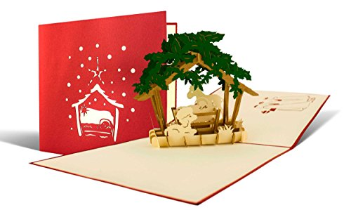 W17Chaussures de Crèche de Noël comme une carte pop-up, hiver, noël