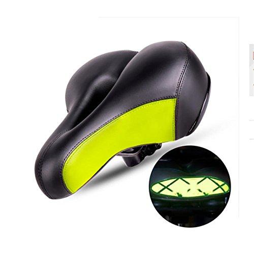 MIAO Bike Saddles/Sättel, Fahrrad Kissen Mountain Bike Sitzkissen Komfortable Thicker Sattel green