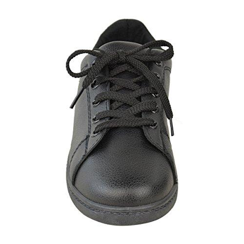 Nera Tacco Dimensioni Calza Donne Scarpe Comode Similpelle Casuali Alto Basse Scarpe Nove Stringate xq1Aa7a