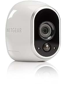 Netgear VMC3030-100EUS Arlo Add On Camera HD con Wi-Fi per la Sicurezza Domestica, Interno/Esterno, Visione Notturna, Bianco