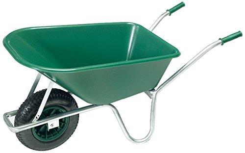 floristikvergleich.de pro-bau-tec Gartenschubkarre 100 L mit PP Kunststoff Mulde, 10089