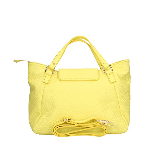 Chicca Borse Borsa a mano in pelle 32x23x15 100% Genuine Leather Giallo