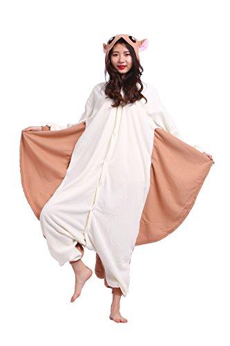 play Kostüme Kigurumi Tiere Schlafanzug Erwachsene Strampelanzug Anime Hoodie Nachtwäsche Fliegenden Maus M (Ky Halloween Kostüm)