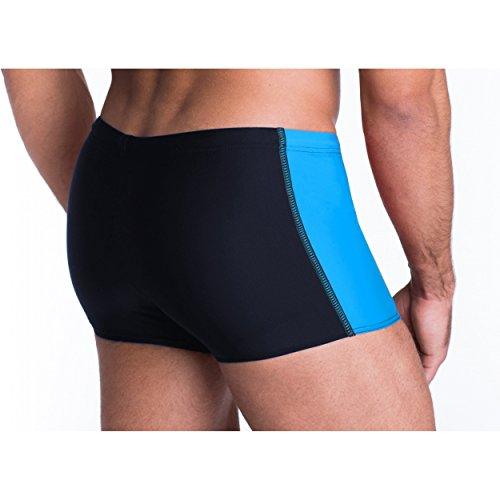 Aquarti Herren Badehose mit Reißverschlusstasche Badeshorts Dunkelblau / Blau