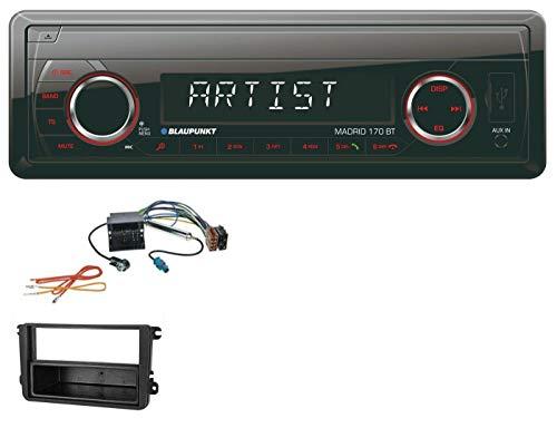 caraudio24 Blaupunkt Madrid 170 BT MP3 USB Aux Bluetooth SD Autoradio für VW Caddy Golf (V VI) Jetta (ab 03)