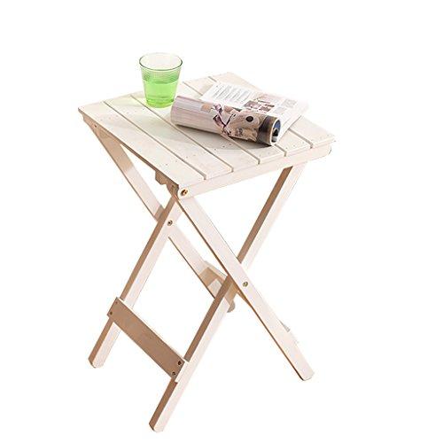 FZN Nordique Minimaliste Bois Fleur Supports Salon Balcon Paresseux Table Pliante Table Basse Extérieure Petite Table Pots de Fleurs (Couleur : Blanc)