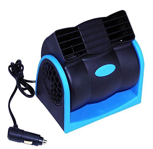 Slinlu Auto-Lüfter, elektrischer Lüfter Auto-Luft-Umwälzpumpe-blattloser Lüfter 12V 2-Geschwindigkeit leise mit Zigarettenanzünder für Träger-LKW RV SUV oder Boot -