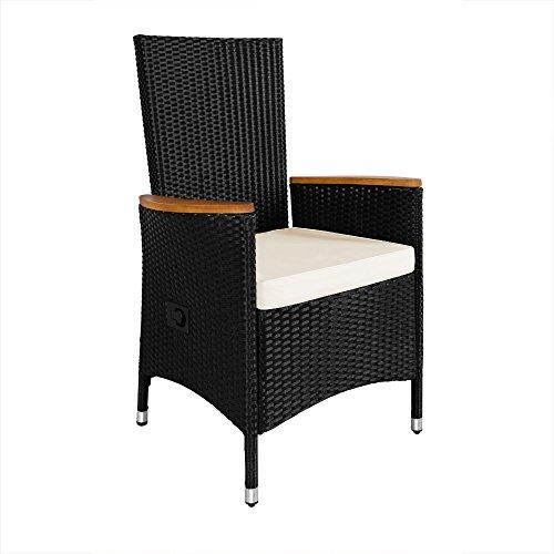 Deuba Gartenmöbel Set 8+1 aus Rattan und Holz - 8