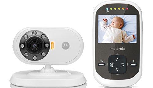 Motorola MBP 25C - Video Babyphone mit 2.4 Zoll Farbdisplay und bis zu 300 Meter Reichweite, weiß - Mit Video Motorola Babyphone