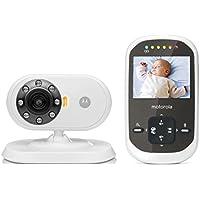 Motorola MBP 25C - Video Babyphone mit 2.4 Zoll Farbdisplay und bis zu 300 Meter Reichweite, weiß