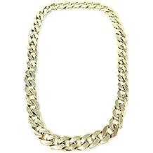 Collar dorado grande accesorios colgante rapero