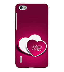 PrintVisa Designer Back Case Cover for Huawei Honor 6 (Quote Love Heart Messages Crazy Express Sorry )
