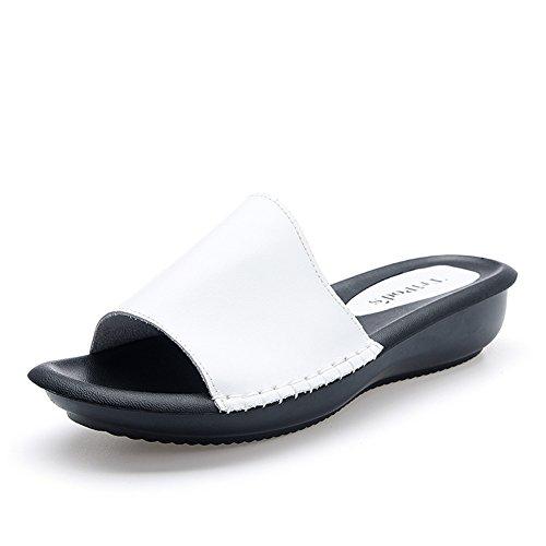 pantoufles la main fashion/Été coréen noirs sandales femmes et pantoufles/porte des sandales douces/Étudiant en plein air sandales/Sandales plates A