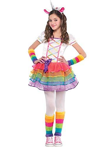 Amscan Rainbow Unicorn Mädchen Kostüm Märchen Buch Tag Tier Kinder Kinder Kostüm