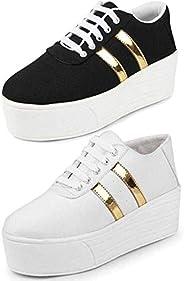 TYING Women's Sneaker (Set of 2 Pa