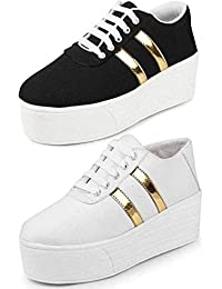 TYING Women's Sneaker (Set of 2 Pairs)