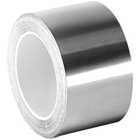TapeCase 1-3-3361 in argento, ad alta temperatura in acciaio INOX/acrilico-Nastro di foglio in alluminio, yd. (1 2,54 cm x 3 m, spessore: 0,01 (0,0038 cm, lunghezza (3 7,62 cm, larghezza (1 2,54 cm