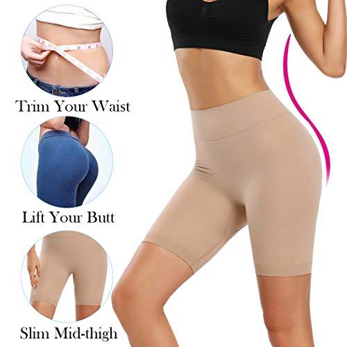 Joyshaper Miederhose Bauch Weg Stark Formend Shapewear Damen Miederpants mit Bein Hohe Taille Figurformende Shaping Unterwäsche (Beige, Large) - 2