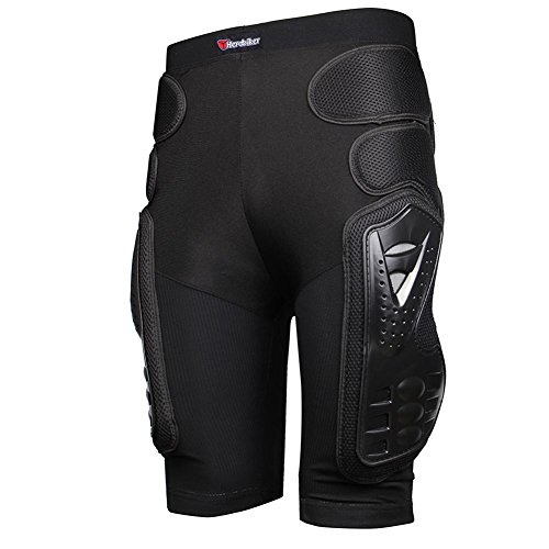 HEROBIKER Protettiva Armatura Pants Hockey Knight Gear for Motorcycle Motocross Racing Ski, Uomo, Nero, S