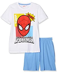 Spiderman Chicos Pijama mangas cortas - Blanco