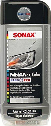 500ml SONAX POLISH & WAX COLOR NANOPRO SILBER/GRAU AUTOPOLITUR LACK POLITUR