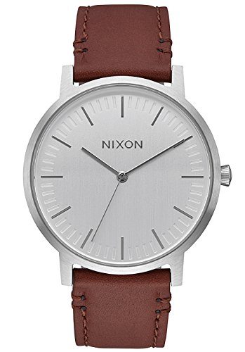 Nixon Herren Analog Quarz Uhr mit Leder Armband A10581113-00