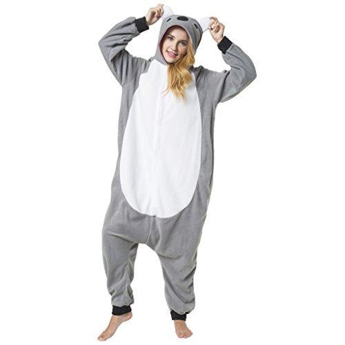 Katara 1744 - Koala Kostüm-Anzug Onesie/Jumpsuit Einteiler Body für Erwachsene Damen Herren als Pyjama oder Schlafanzug Unisex - viele verschiedene Tiere (Niedlichen Für Frauen Tier-kostüm)