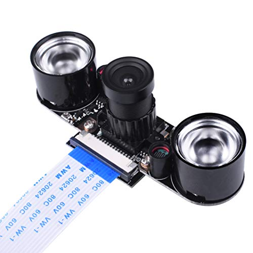Kuman Raspberry Pi 3B+ Model B B+ A+ RPi 3 2 1 Kamera Modul IR Filter, Tages- und nachtsichttaugliches Kamera Modul für alle Raspberry Pi Modelle SC15 Mini-board-kamera