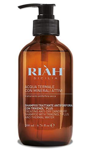 Azienda agr. zighidi srl Riàh Sicilia - Acqua Termale con Minerali Attivi - Shampoo Trattante Forfora Secca