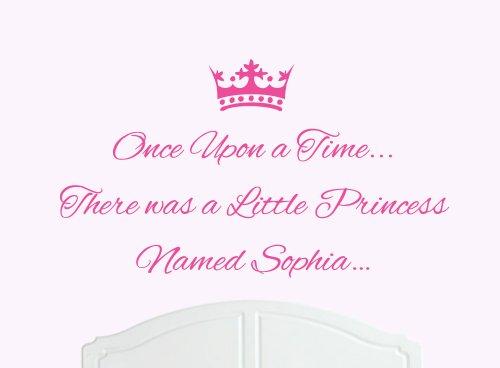 Once Upon a Time Princesse Sophia Grand sticker mural en vinyle Lit Chambre Art Fille/bébé