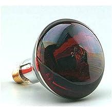 LAMPARA INFRARROJA 250W Rosca. E27 220-240V. Luz roja. Emite calor.