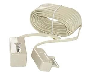 MCL Samar MC103-20M Câble rallonge téléphonique conjoncteur mâle / femelle- 20m