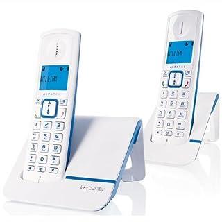 Alcatel Versatis F 230 Voice Duo - Teléfono fijo digital inalámbrico, color azul [Importado de Francia] (B008QUTAGQ) | Amazon Products