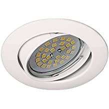 Wonderlamp Basic W-E000016 - Foco empotrable redondo blanco, incluye portalámparas GU10, diámetro de 8,5 x 1,5 cm, blanco