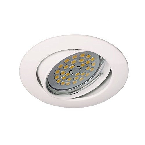 Wonderlamp Basic W-E000016 - Foco Empotrable Techo Redondo Blanco, Incluye Portalámparas Gu10,...
