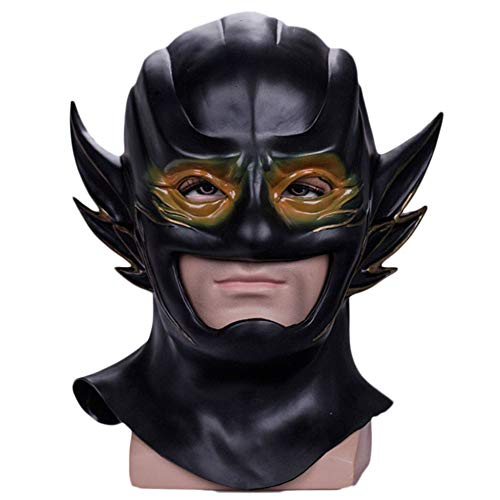 QXMEI Halloween Cosplay Maske Flash Maske Helm Wettbewerber Disruption Mask,Black-OneSize