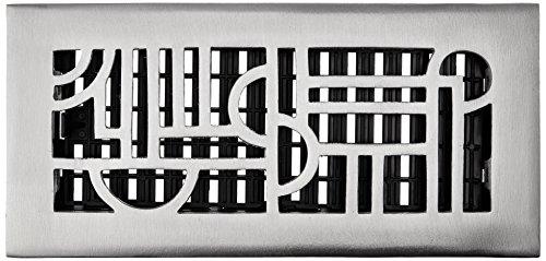 Grilles de Décor 5,1 cm par 30,5 cm Art Déco Aluminium Nickel Sol Register, ADA410-NKL