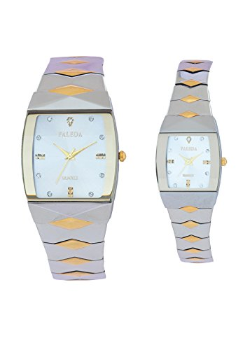 Faleda 6111PTTW Standred Analog Watch For Couple