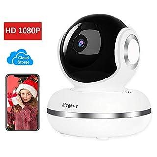 Megeny WLAN Kamera IP Kamera 1080P Überwachungskamera mit HD Nachtsicht,Menschliche Erkennung,Cloudspeicher,Zwei-Wege-Audio,Unterstützt Fernalarm,Sicherheitskamera Home Indoor Kamera Baby Monitor