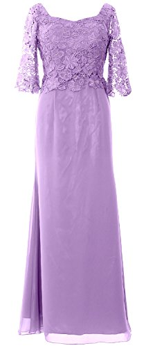 MACloth Women Half Sleeve Long Mother of the Bride Dress Evening Formal Gown (36, Lavendel) (Womens Bras Lavendel)