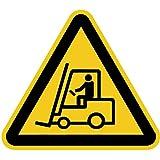 Aufkleber Warnzeichen Warnung vor Flurförderzeugen 20cm sl Folie