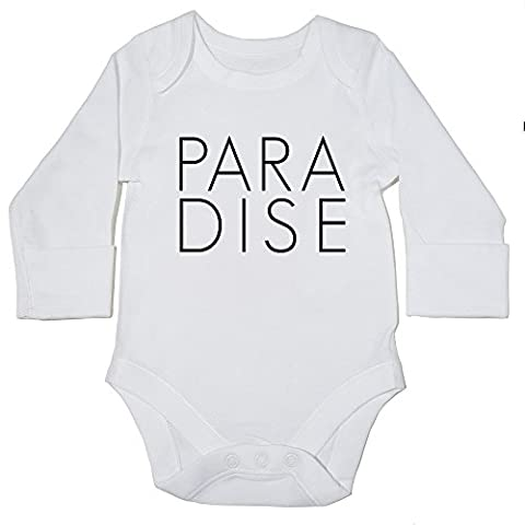 HippoWarehouse PARADISE baby bodysuit (long sleeve) boys girls