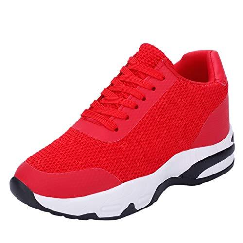 Mode rutschfeste Sportschuhe Damen,Freizeitschuhe dicken Boden Laufschuhe,zu Fuß Arbeitsschuhe Air Atmungsaktiv-Joggingschuhe Mesh Casual-Beiläufig URIBAKY