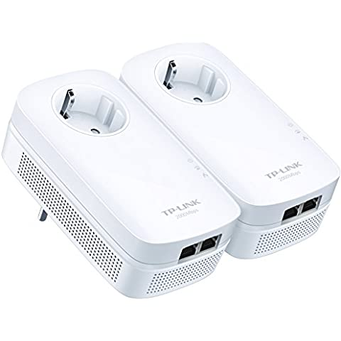 TP-Link TL-PA9020P KIT - Extensor de red por línea eléctrica (sin WiFi, 2000 Mbps, 4 puertos), color blanco