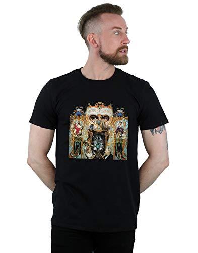 Michael Jackson Herren Dangerous Album Cover T-Shirt Schwarz Large - Album-cover Tee Herren