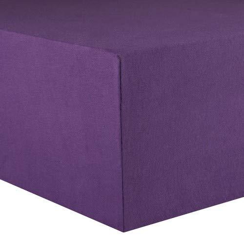 CelinaTex Lucina Spannbettlaken 180x200 - 200x200 lila Jersey Baumwolle Spannbetttuch Doppelbett Matratzen 0002811